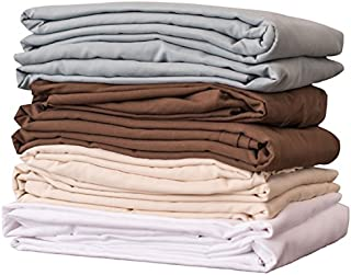 NRG Premium Microfiber Fitted Massage Spa Table Sheet Linen, Single Sheet - 100% Double Brushed Polyester Soft as Silk - 120 GSM - Wrinkle Resistant & Resists Pilling- 77 x 36in-Color:Dark Chocolate