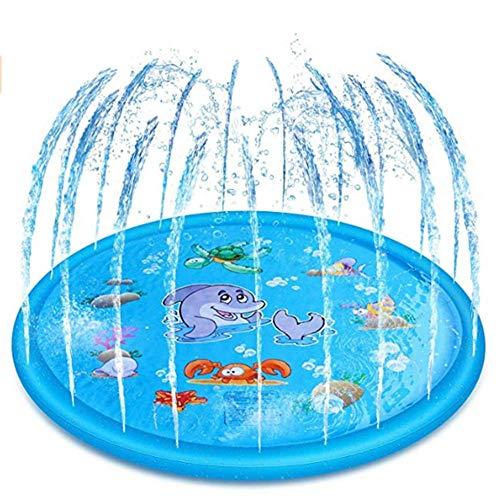 MJ-Brand Sprinkle and Splash Spielmatte Aufblasbare Wasserspielzeugspiele Sprinklerpad Im Freien Summer Garden Spray Wasserspielzeug FüR Kinder Kleinkinder