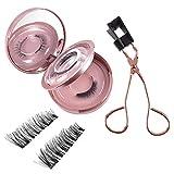xianghaoshun Pestañas magnéticas, pestañas Artificiales Reutilizables, pestañas de Ojos Falsos Suaves y cómodos para la Maquillaje de Las Mujeres