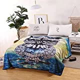 Owl Blanket Print Comfort Soft Warm Glow Owl Throw Luxury Super Soft Plush Blanket Summer air Conditioning Blanket for Kids Adults Gift 60x80