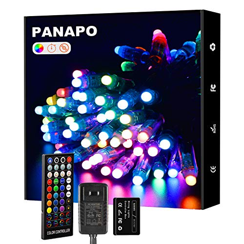 Outdoor String Lights, 35ft Dream Color 100 LED Patio String Light with Remote, Waterproof Indoor Outdoor Decoration Fairy Lights String for Party, Christmas,Wedding Halloween