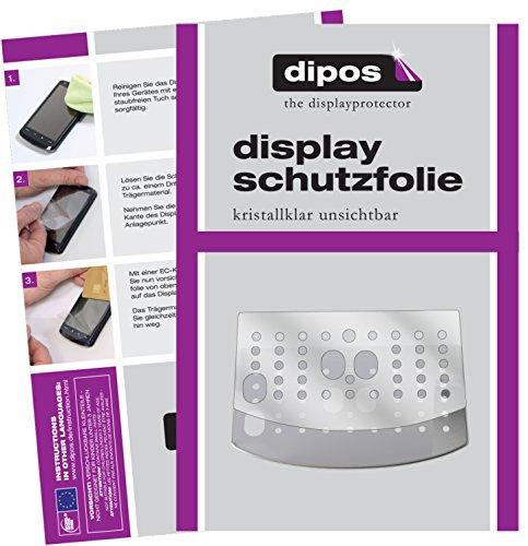 dipos I 3X Schutzfolie klar kompatibel mit DeLonghi Magnifica S ECAM 22.110 + 21.117 + 21.116 Tropfblech Folie Displayschutzfolie