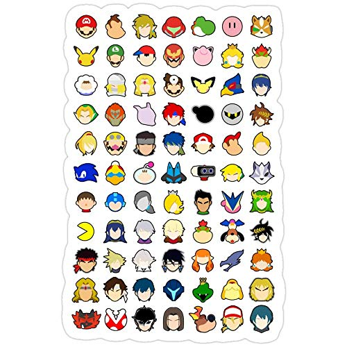 Vinyl Sticker For Cars, Trucks, Water Bottle, Fridge, Laptops Super Smash Bros Ultimate Stock Icons - With All Dlc Characters! Super Smash Bros Ultimate Stickers (3 Pcs/Pack) 1524377772