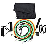 XTR 11pcs/set Resistance Band Latex Elastic Pull Rope Home Gym Yoga Fitness Workout Sports Body Building Equipment Tool,11PCS Fitness Kit 03,France