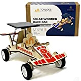 Solar Wooden Race Model Car Kit - STEM Projects for Kids Ages 8-12 - DIY Science 3D Puzzle Toy- Educational Building Mechanical Set for Girls and Boys – Motorized Wood Racing Vehicle with Stickers