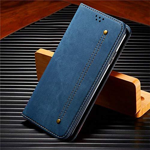 QiuKui Fundas para Xiaomi A3 9T Note 10 Lite, Funda de cuero magnético con ranuras para tarjetas, soporte para Redmi Note 7 8T 9S K20 K30 Pro Max (color: azul, material: Redmi Note 7 (Pro))