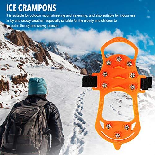Lizefang Eisschnee Traktionsklampen Steigeisen 1 Paar Walk Traktionsklampen Eisschnee Trappen für Stiefel Leichte Antirutschspitzen EIS Traktionsklampen zum Wandern transferable