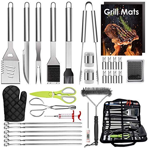 %12 OFF! HaSteeL 32 PCS Grilling Accessories BBQ Grill Set, Stainless Steel Grill Tools with Storage...