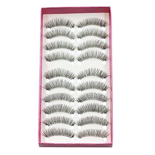 bluelans® 10 paires forte longue faux faux cils Extensions de Cils eyelasches souple Party maquillage
