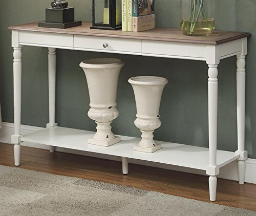 white antique console table - 7