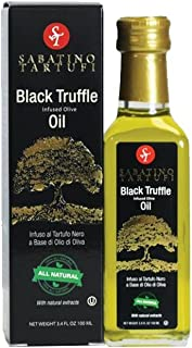 Sabatino Tartufi Infused Olive Oil, Black Truffle, 3.4 Ounce