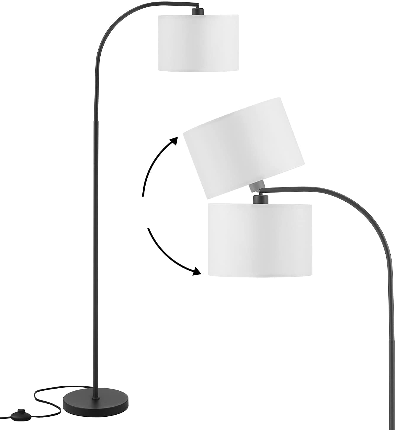 Arc Floor Lamp Adjustable Standing Shade with Mode Direct sale of manufacturer Max 51% OFF Anbomo