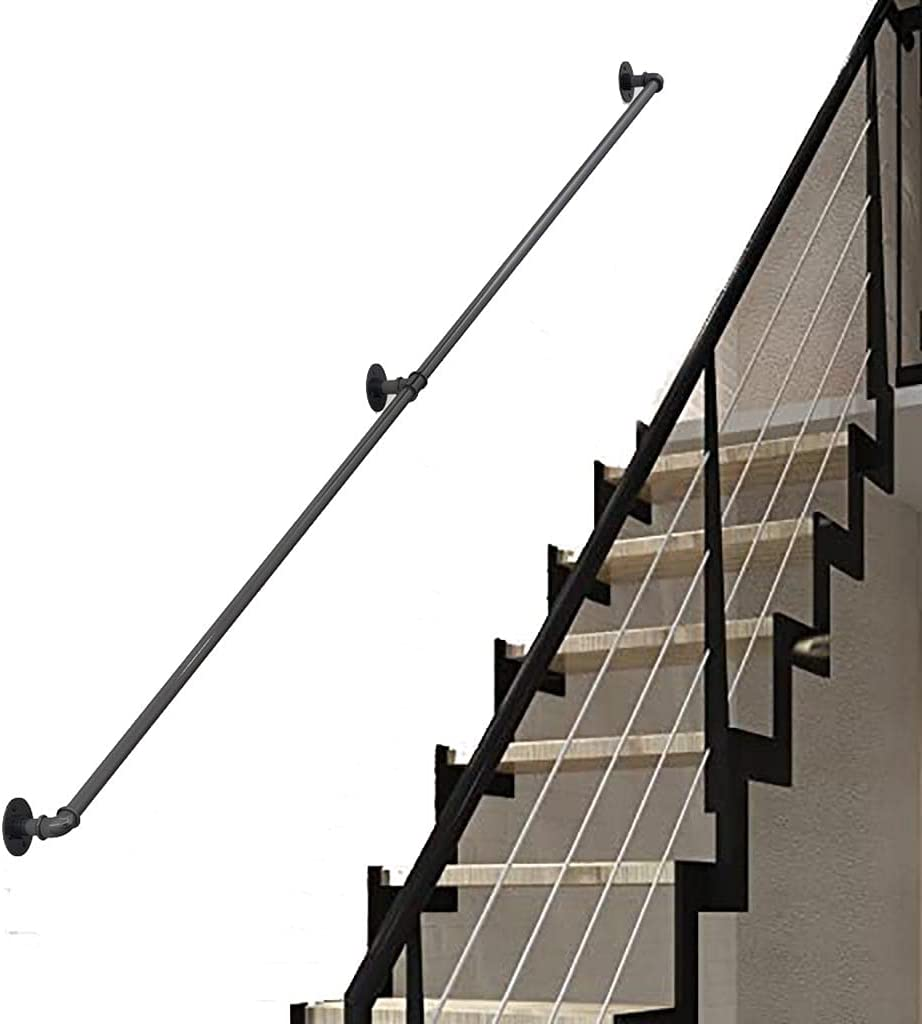 FKKPRVAX Wall Handrails New Orleans Mall for Ranking TOP18 Indoor Stairs Wrought 1ft-20ft Iron