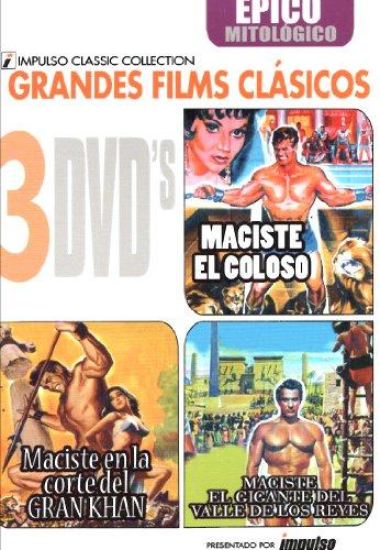 Maciste(El Coloso+En La Corte del Gran Khan+El Gigante del Valle de Los...