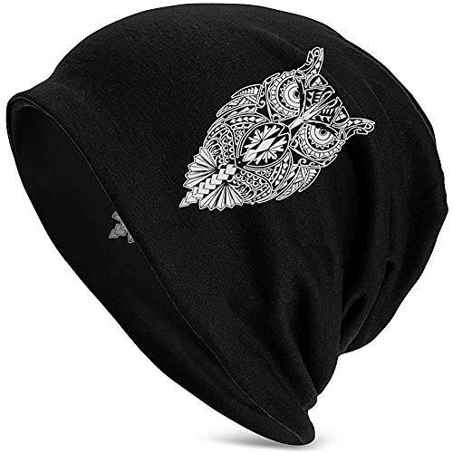 Mannen en vrouwen muts hoed Maori Uil Roman winter warme gebreide muts zwart