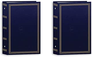 Pioneer 3-Ring Photo Albums 4 x 6 Pocket for 504 Photos (Navy Blue) (2 Pack)