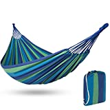 Best Choice Products 2-Person Cross-Woven Brazilian Indoor Outdoor Cotton Double Hammock Bed with Carrying Bag