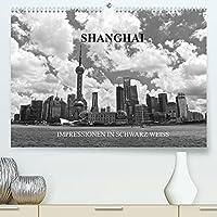 Shanghai - Impressionen in schwarz weiss (Premium, hochwertiger DIN A2 Wandkalender 2022, Kunstdruck in Hochglanz): Shanghai - Impressionen einer Weltstadt in schwarz weiss (Monatskalender, 14 Seiten )