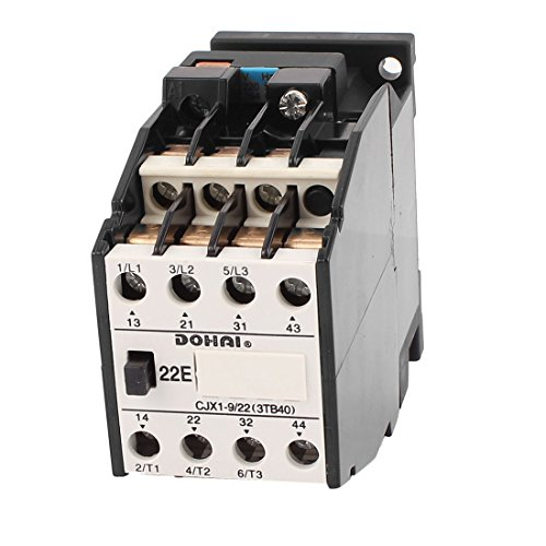 Aexit CJX1-9/22 AC Controls & Indicators Contactor 220V 50HZ 264V 60HZ Coil Voltage 20A 3 Motor Contactors Phase 1NO
