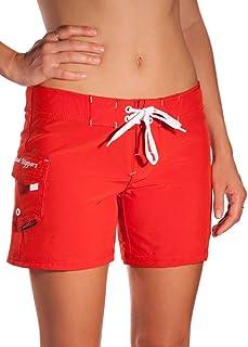 DONNA NICOLE WOMENS BEACH LONG BOARD SHORTS SZ 7 PINK FLORAL SWIM TRUNKS NWOTWMD