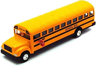 Monkey King MK Large 8.5 inch Yellow School Bus DieCast Toy Car Model with Pull Back and Go Action