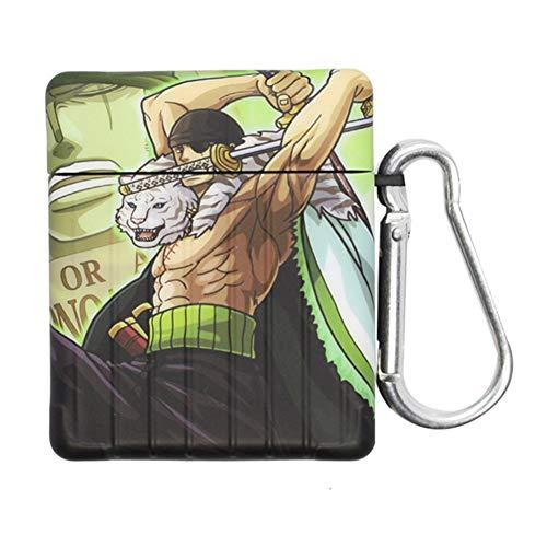lunanana One Piece Hülle für AirPods 1&2&3, Japanischer Anime Upgraded Hochwertiges Silikon AirPods Case(Airpods pro H02)