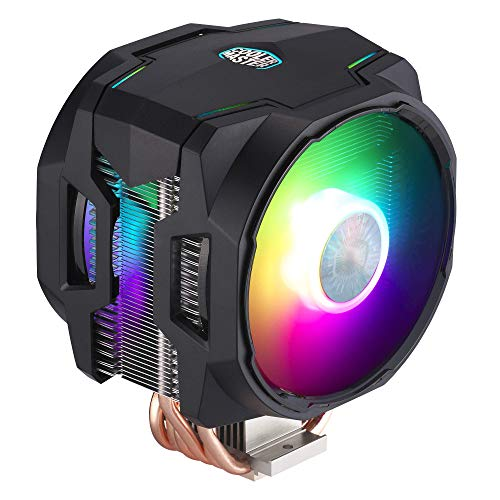 CoolerMaster MasterAir MA610P ARGB CPU Air Cooler, 6 Heat Pipes, Aluminum Fins, Push-Pull, Dual SickleFlow ARGB Fans for AMD Ryzen/Intel 1200/1151