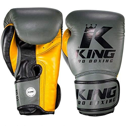 King Pro Boxing Boxhandschuhe Star 6, Gruen-gelb Größe 10 Oz