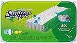 Swiffer Panni Umidi Per Scopa Lavapavimenti Con Fresco Profumo Di Limone 12 Pezzi, Per Una Pulizia Semplice e Rapida