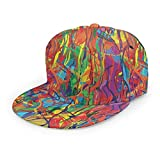 Gorra de béisbol moderna con diseño de arco iris con pintura al óleo, estilo abstracto, unisex, gorra de camionero, estilo hip-hop, a cuadros, ajustable