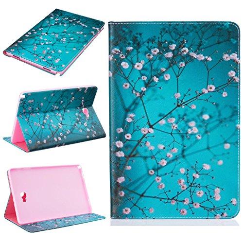 Galaxy Tab A 10.1 (S Pen) Funda, SATURCASE Cuero De La PU Capirotazo Billetera Apoyo Bumper Protector Funda Carcasa Case para Samsung Galaxy Tab A 10.1 (S Pen) SM-P580 P585 (Design-6)
