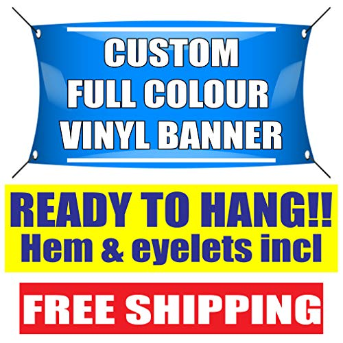 PVC Banners Sign-Outdoor Printed Advertising Display Ready to Hang Full colorcustom Party Business Birthday Wedding Banner Outdoor Display