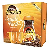 Nescafe Sunrise Coffee Couple Pack - 200g Jar with 2 Coffee Mugs