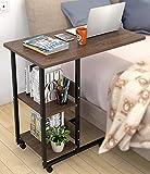 Mobile Laptoptisch Notebooktisch Laptopständer Computertisch Laptop Desk Rolltisch Betttisch Sofatisch Pflegetisch Nachttisch für Bett und Sofa, mit Rollen, Feste Höhe: 69cm