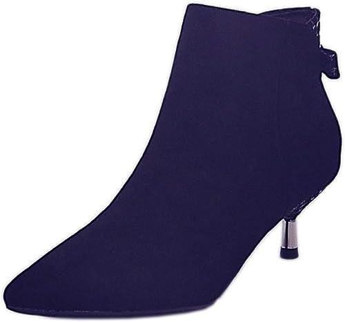 GTVERNH Moda schuhe de damen Stiefel Cortas Cabeza Alargada Pajaritas 5Cm Tacones Altos Stiefel De Moda schuhe Delgada Tacones schuhe De damen Moda.