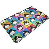 Traveler Shop Pinguin-Pop-Art-Fußmatten-Eingangs-Fußmatten mit Rutschfester Rückseite Indoor Outdoor, leicht zu reinigen
