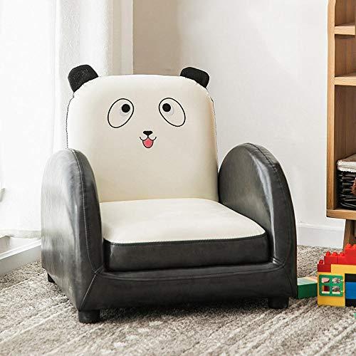 Asiento de sofá para niños Dibujos Animados niño niña Princesa bebé bebé Aprender a Sentarse en el Asiento del sofá Lindo Tatami de Lectura-sofá reclinable de PU de Panda Natural