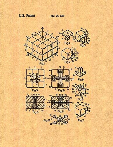 Rubik Cube Toy Patent Print (13' x 19') M10643
