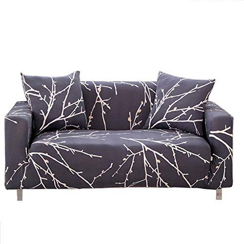 ENZER Funda de Sofa Elasticas 1 2 3 4 Plazas,Universal Fantasía Cubre Sofas Ajustables,Árbol Rama,4 Plazas / 225-290cm