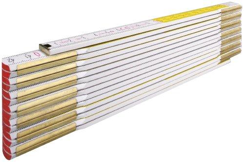 STABILA Holz-Gliedermaßstab Type 617/11, 3 m, weiß/gelbe metrische Schnellableser-Skala