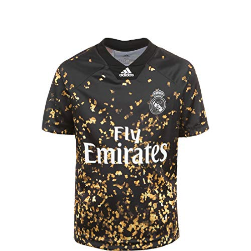 adidas Real Madrid EA Sports Cuarta Equipación 2019-2020 Niño, Camiseta, Black-White