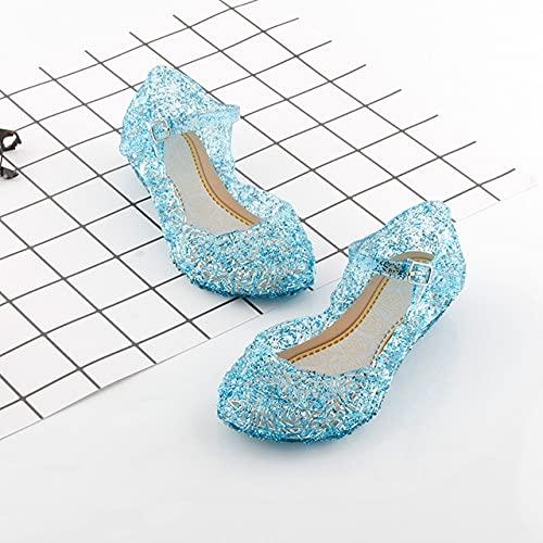 DZQQ Zapatos de Princesa navideña Fiesta de Halloween Sandalias de Playa para niñas Zapatos de Lentejuelas para niños Carnaval Cosplay Ropa para niños