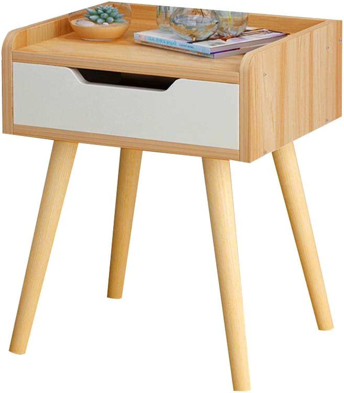 Nightstand Wood-Based Panel with Drawer Storage, Bedroom Locker Bedside Storage Box Bedside Table (color    1, Size   33  28  44cm)