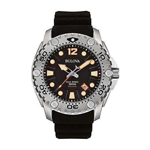 Bulova Reloj de Cuarzo japonés 96B228 Sea King con Pantalla analógica, Color Negro