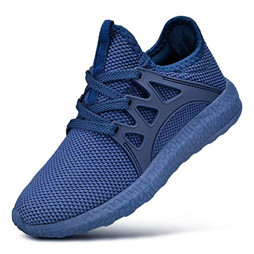 Feetmat Boys Tennis Shoes Breathable Kids Sneakers Athletic Sports Walking Shoes Size 2 Little Kid Blue