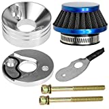44mm Blue Air Filter Stack Choke Kit for 2 Stroke 23cc 33cc 43cc 49cc MOTOVOX MVS10 43cc Engine Parts Big Foot Goped Stand Up EVO Gas Bladez Moby xs 33 Scooter Parts