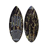 South Bay Board Co. - Wakesurf Boards - 52' Long in Black/Gold Marble - Rambler...