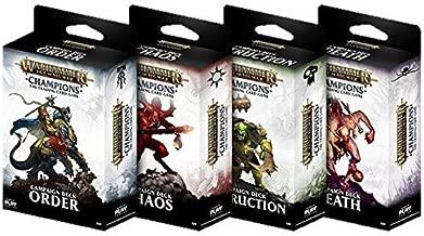 Playfusion Warhammer Champions TCG: Age of Sigmar Campaign Deck Set [4 Decks]