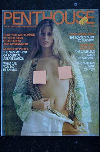 PENTHOUSE UK Vol 10 N° 06 JOHNNY CASH Bob GUCCIONE David MOREAU Owen BROWN Xaviera HOLLANDER