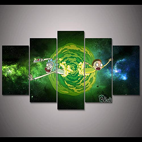 5 Canvas paintings Cuadros Home Decoration Wall Rick Morty Canvas Oil Painting Art Popular Pictures For Living Room Prints Frameless